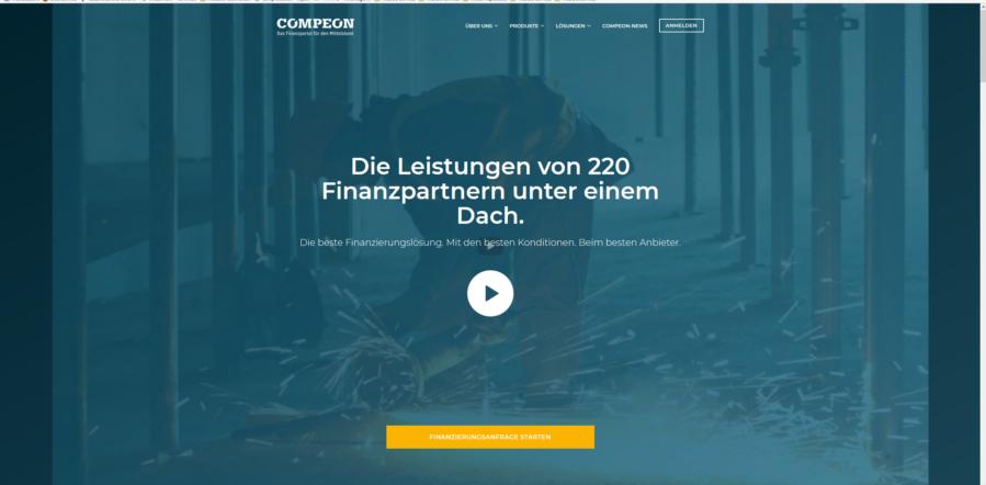 Startseitenansicht von Compeon.de