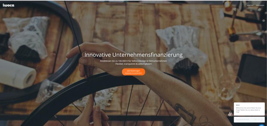 Startseitenabbildung von iwoca.de