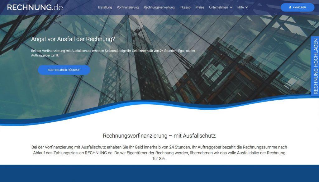 Screenshot Rechnung.de