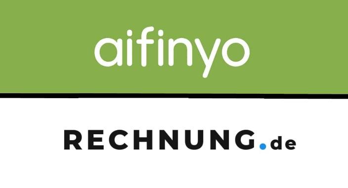 Logos von aifinyo und rechnung,de